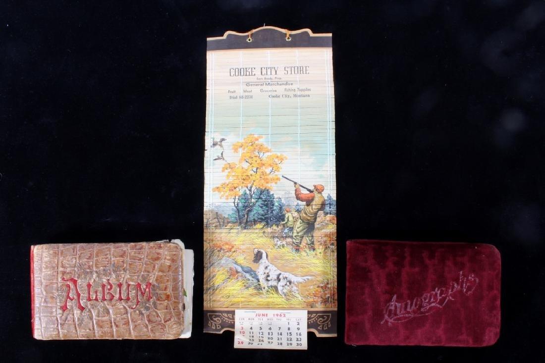 Montana 1962 Store Calendar & Autograph Albums
