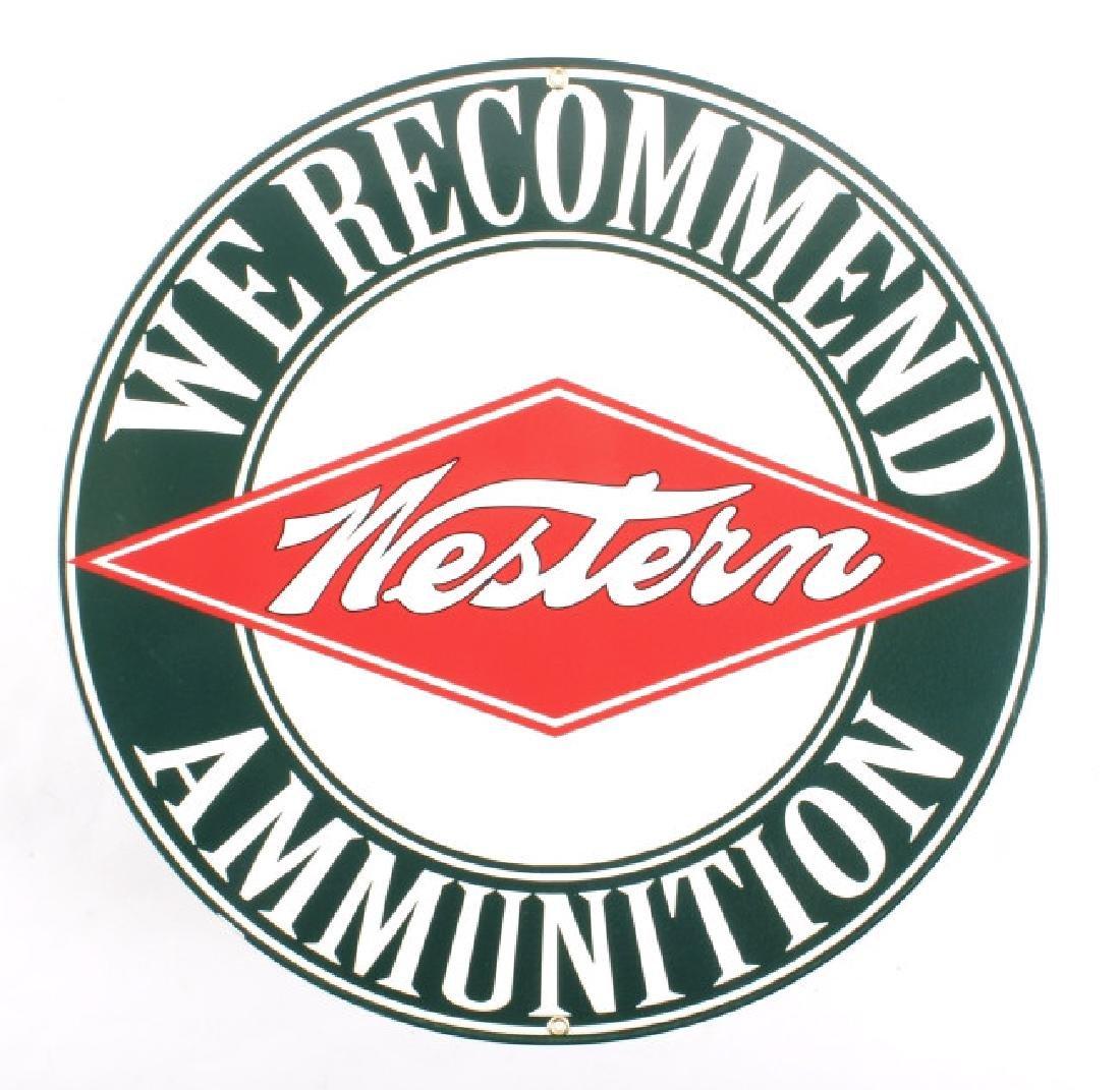 Porcelain Enamel Western Ammunition Advertisement
