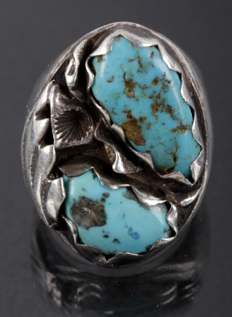 Ray Nieto Zuni Sterling & Turquoise Mens Ring