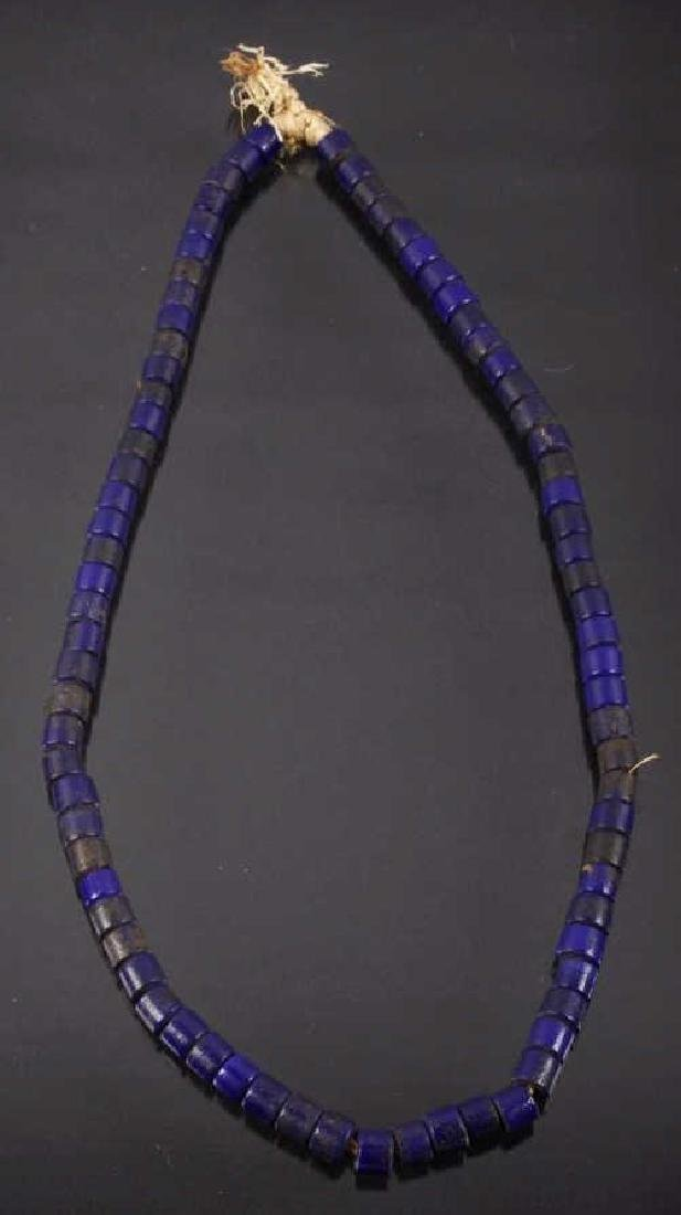 N. West Native Russian Glass Trade Bead Necklace