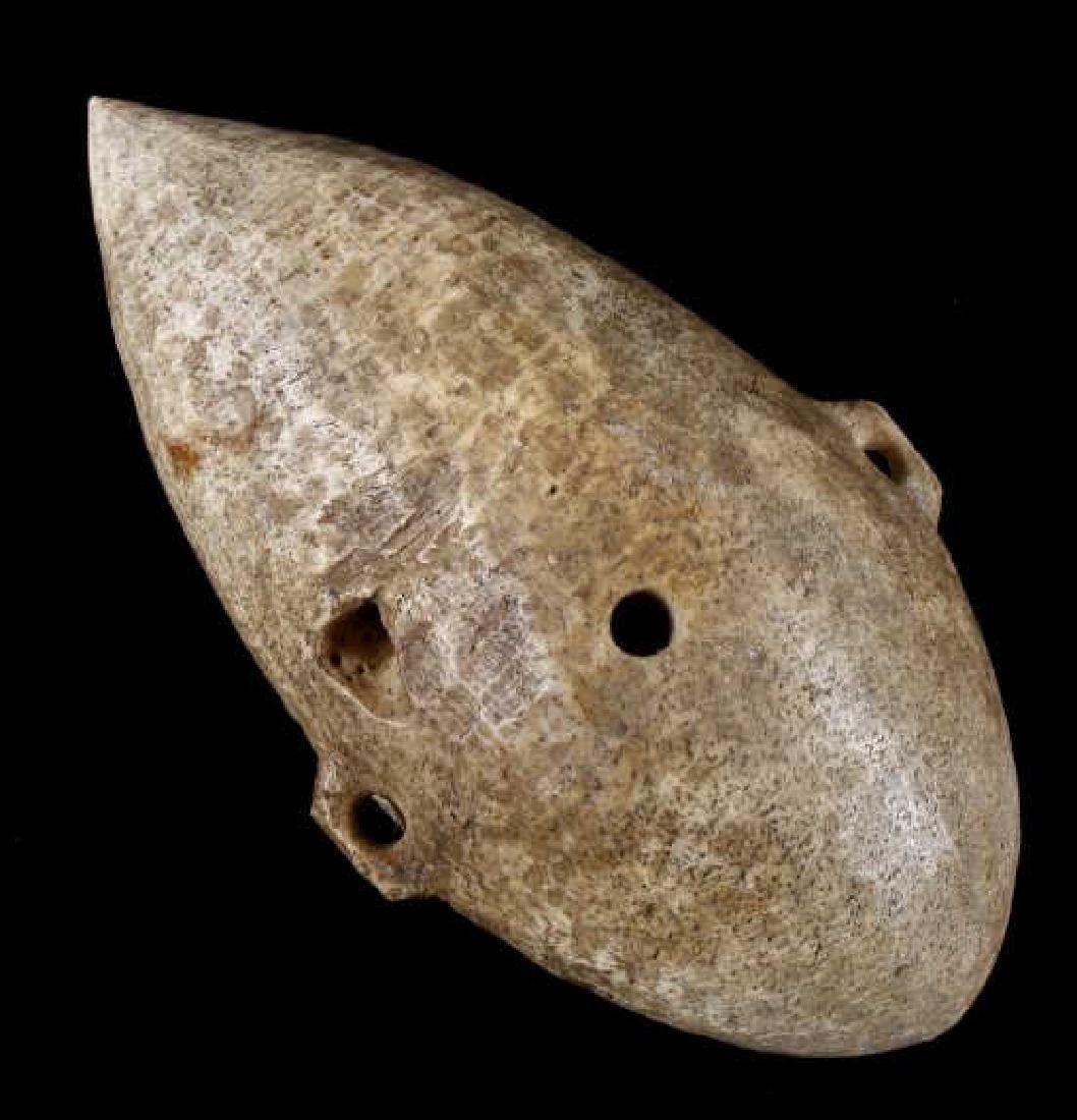 Ancient Soapstone Plummet Fishing Weight