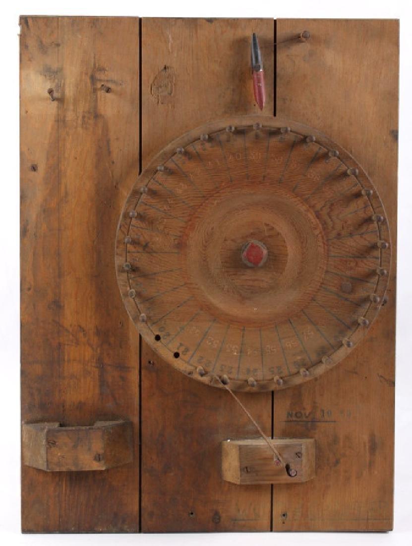 Butte, MT Miners Pinwheel Gambling Game c. 1939