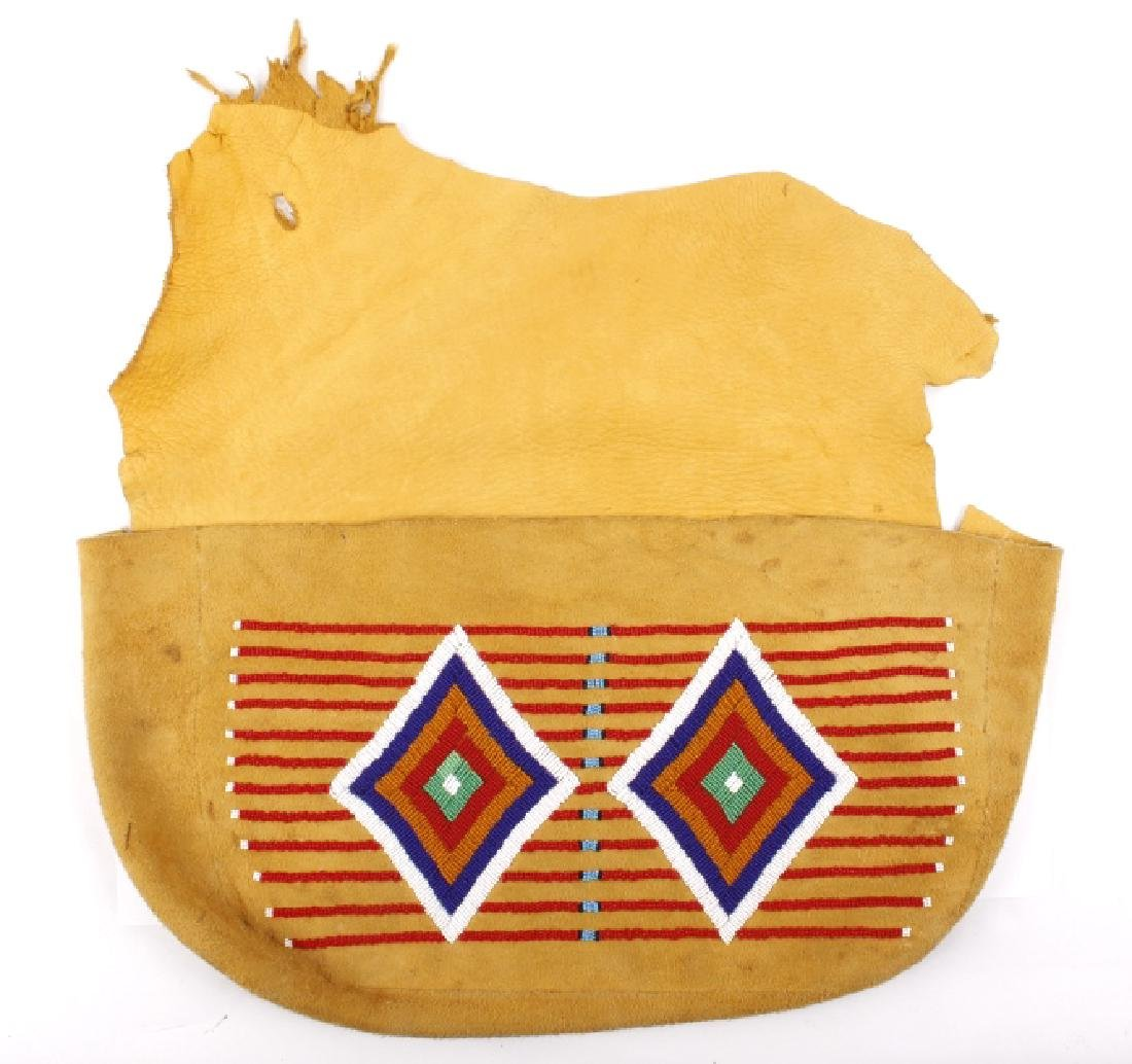 Northern Plain Native American Beaded Document Bag