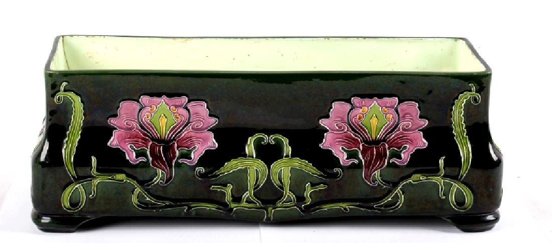 Julius Dressler Art Nouveau Majolica Flower Pot