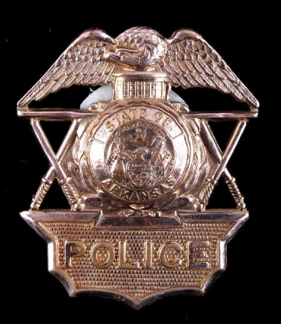 State Of Arkansas Police Hat Badge