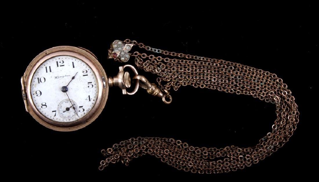 Hampden Molly Stark Pocket Watch With Chain