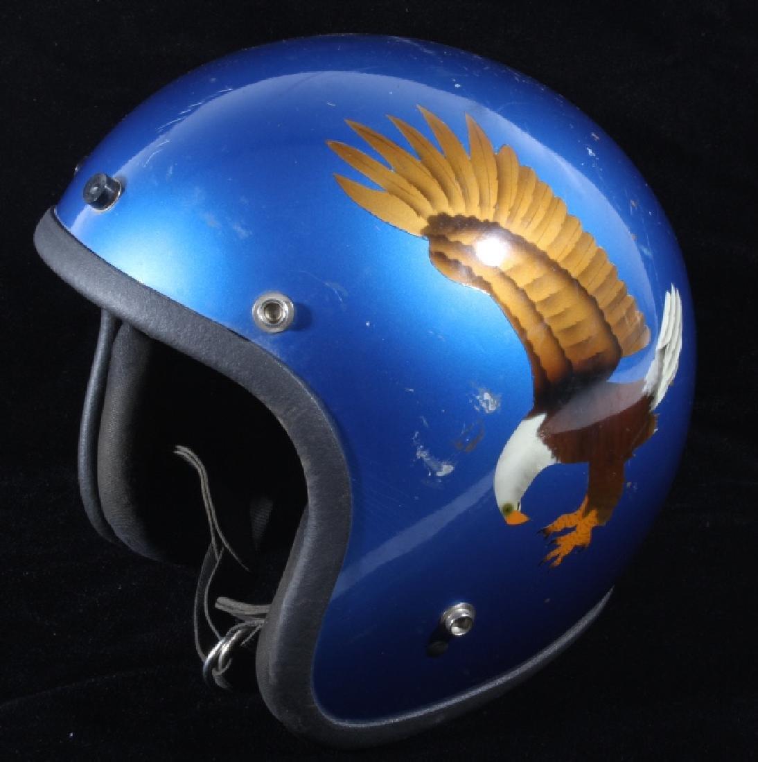 Vintage Delgado Bald Eagle Open Face Helmet