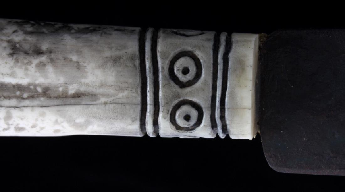 Sioux Fully Beaded Sheath & Trade Knife - 6