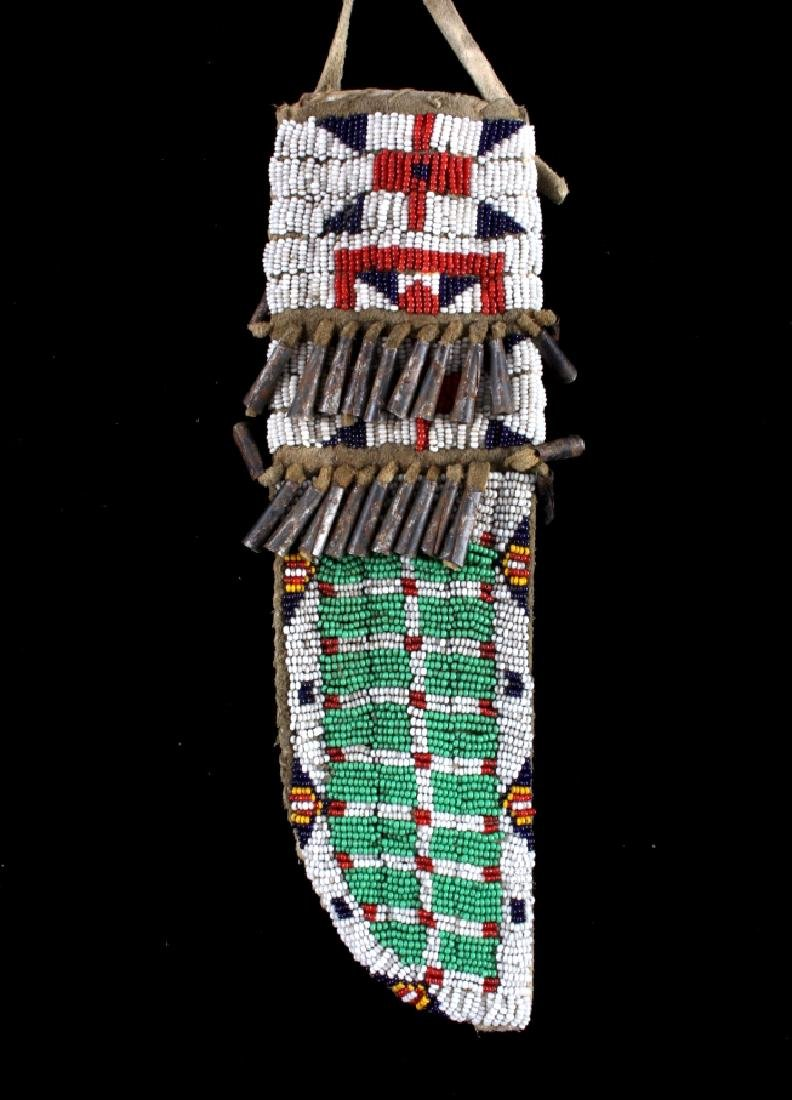Sioux Fully Beaded Sheath & Trade Knife - 8
