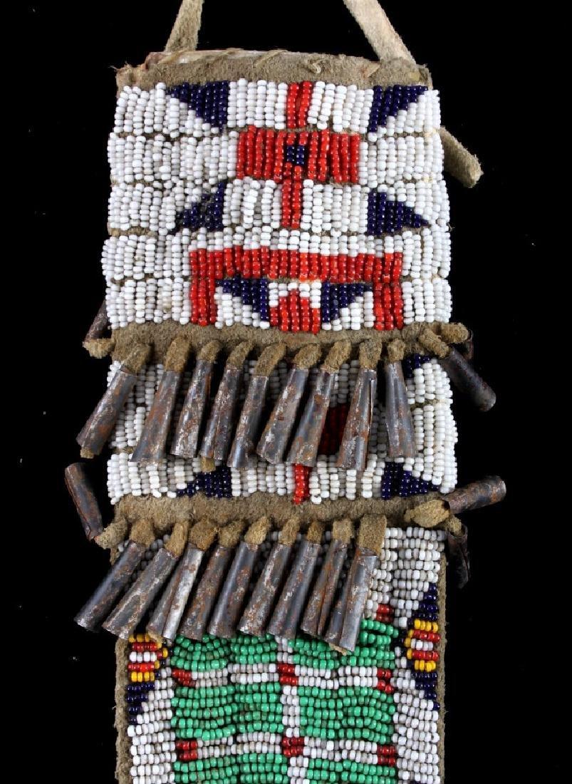 Sioux Fully Beaded Sheath & Trade Knife - 9