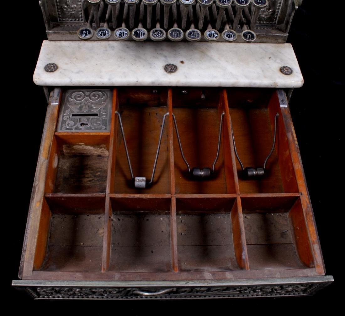 National Model 7 Brass Cash Register 1904 - 11