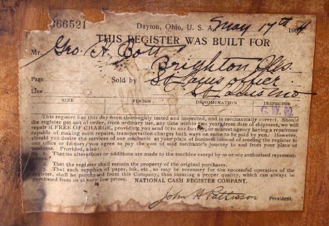National Model 7 Brass Cash Register 1904 - 14