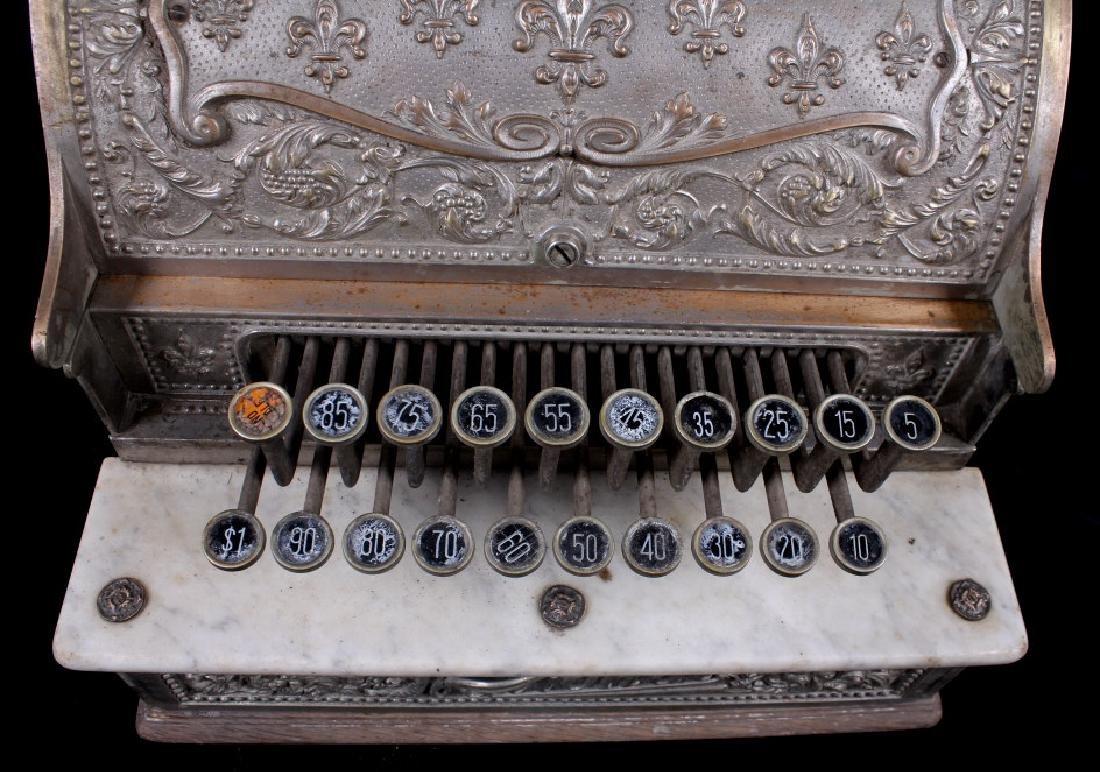 National Model 7 Brass Cash Register 1904 - 9