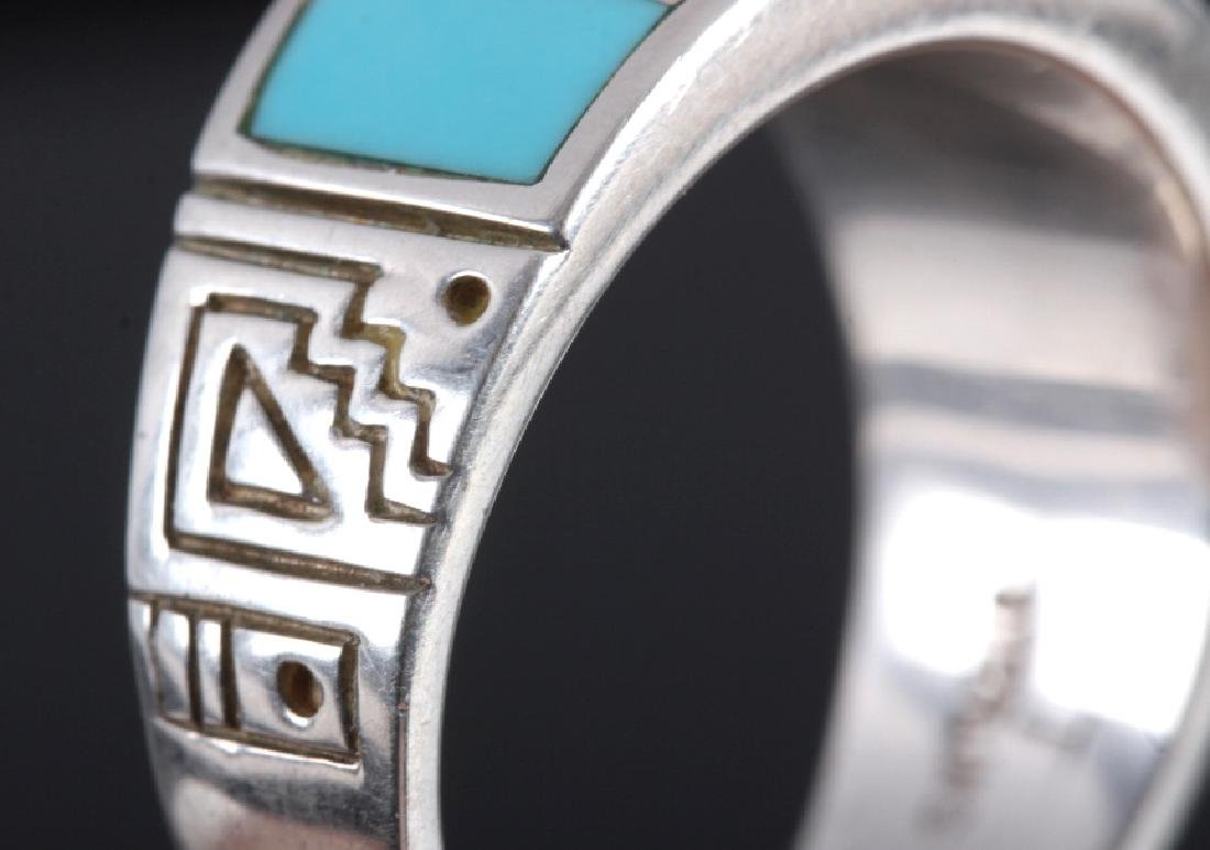 Ray Tracey Navajo Sterling Silver Turquoise Ring - 5