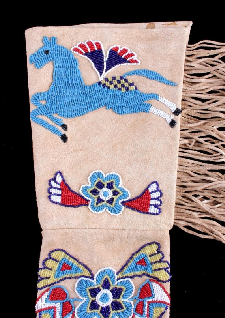 Exceptional Sioux Indian Beaded Gauntlets - 10