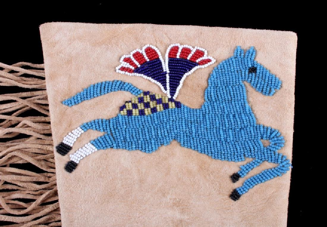 Exceptional Sioux Indian Beaded Gauntlets - 3