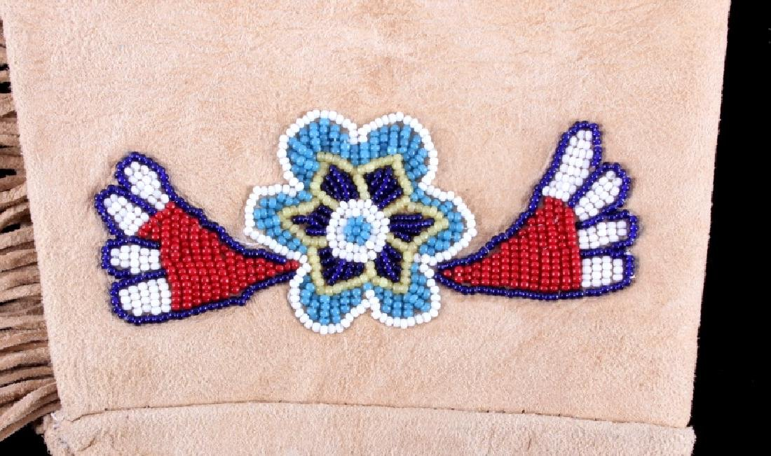 Exceptional Sioux Indian Beaded Gauntlets - 4