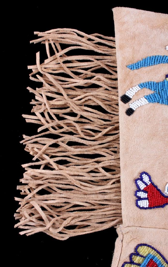 Exceptional Sioux Indian Beaded Gauntlets - 5