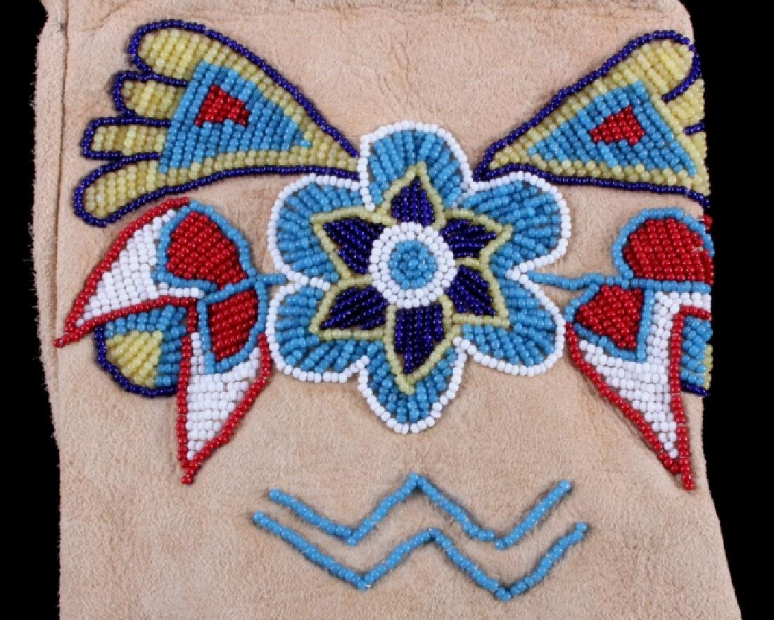 Exceptional Sioux Indian Beaded Gauntlets - 7