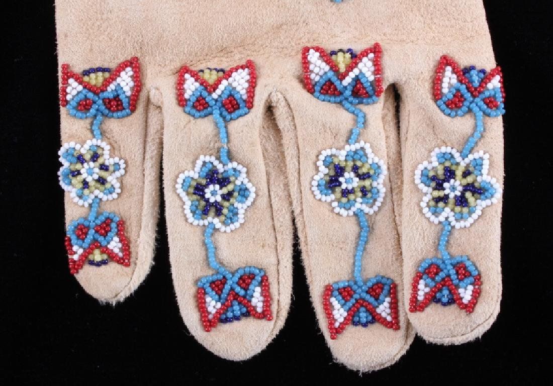 Exceptional Sioux Indian Beaded Gauntlets - 8