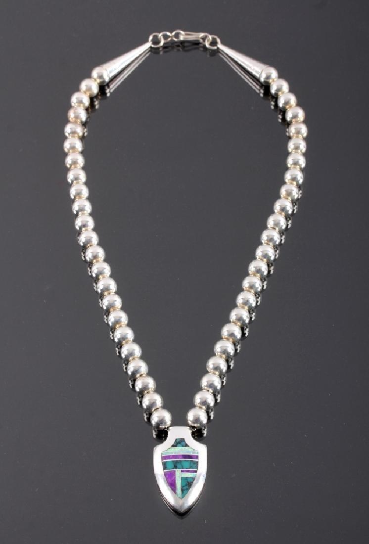 David Rosales Navajo Sterling Silver Necklace