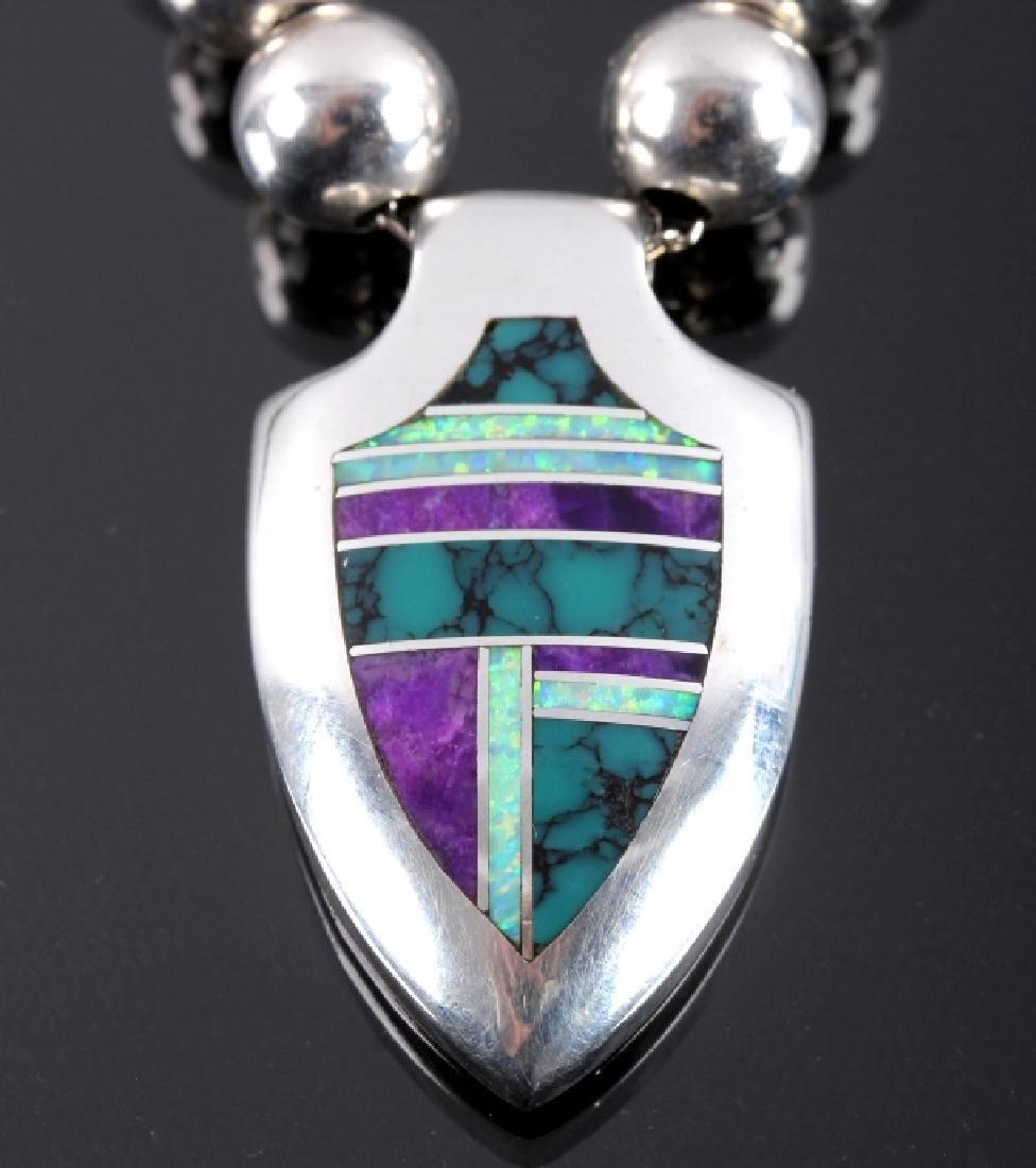 David Rosales Navajo Sterling Silver Necklace - 2