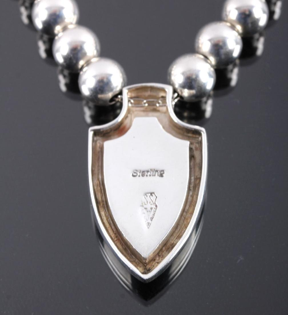 David Rosales Navajo Sterling Silver Necklace - 6