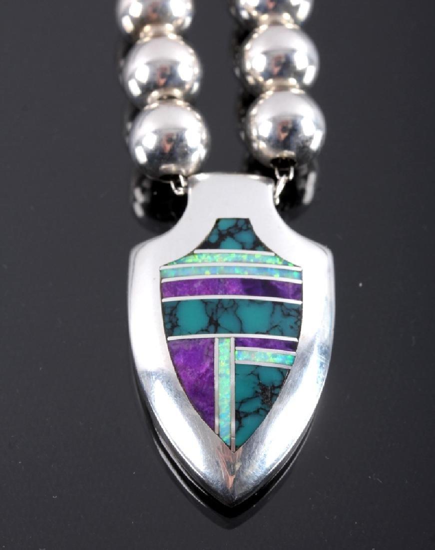 David Rosales Navajo Sterling Silver Necklace - 8