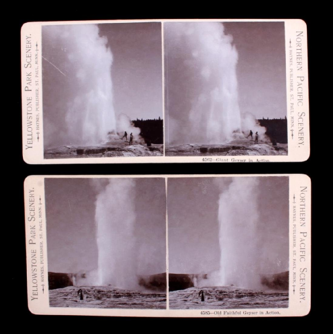 Haynes Yellowstone Park Stereoview Collection - 3