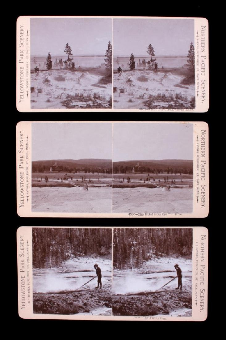 Haynes Yellowstone Park Stereoview Collection - 7
