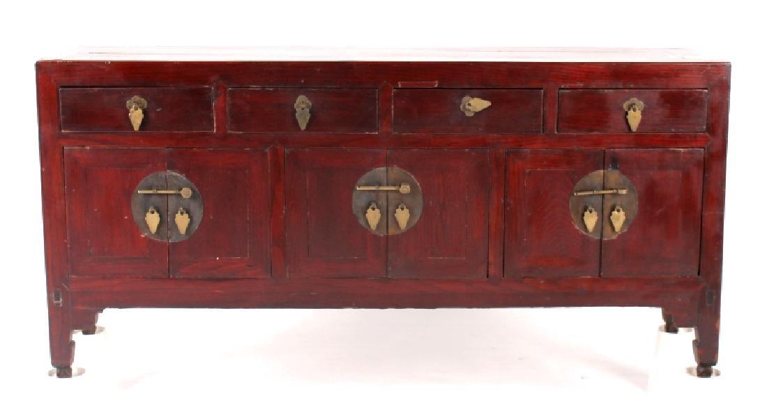 Antique Chinese Low Kang Locking Cabinet - 2