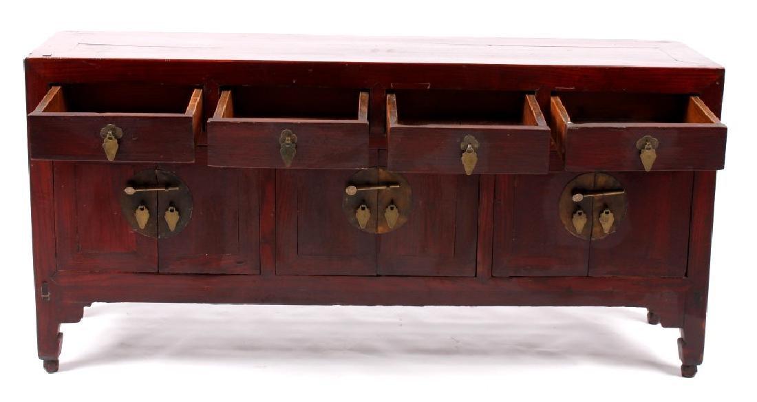 Antique Chinese Low Kang Locking Cabinet - 9