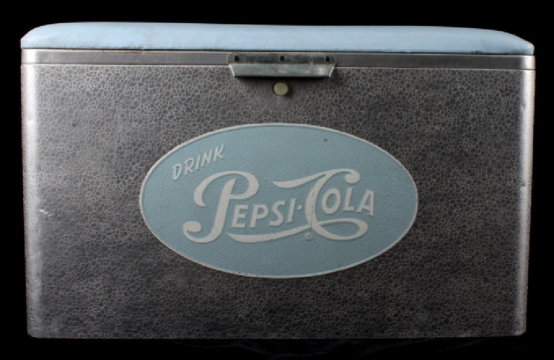 Vintage Aluminum Cronstroms Pepsi-Cola Cooler - 2