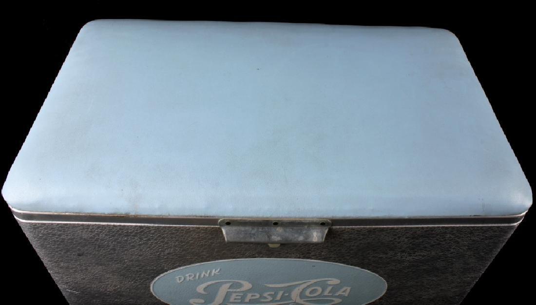 Vintage Aluminum Cronstroms Pepsi-Cola Cooler - 6