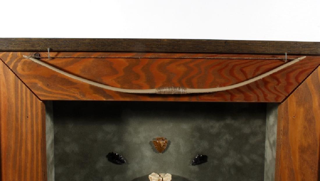 Native American Framed Arrowhead Shadowbox Display - 2