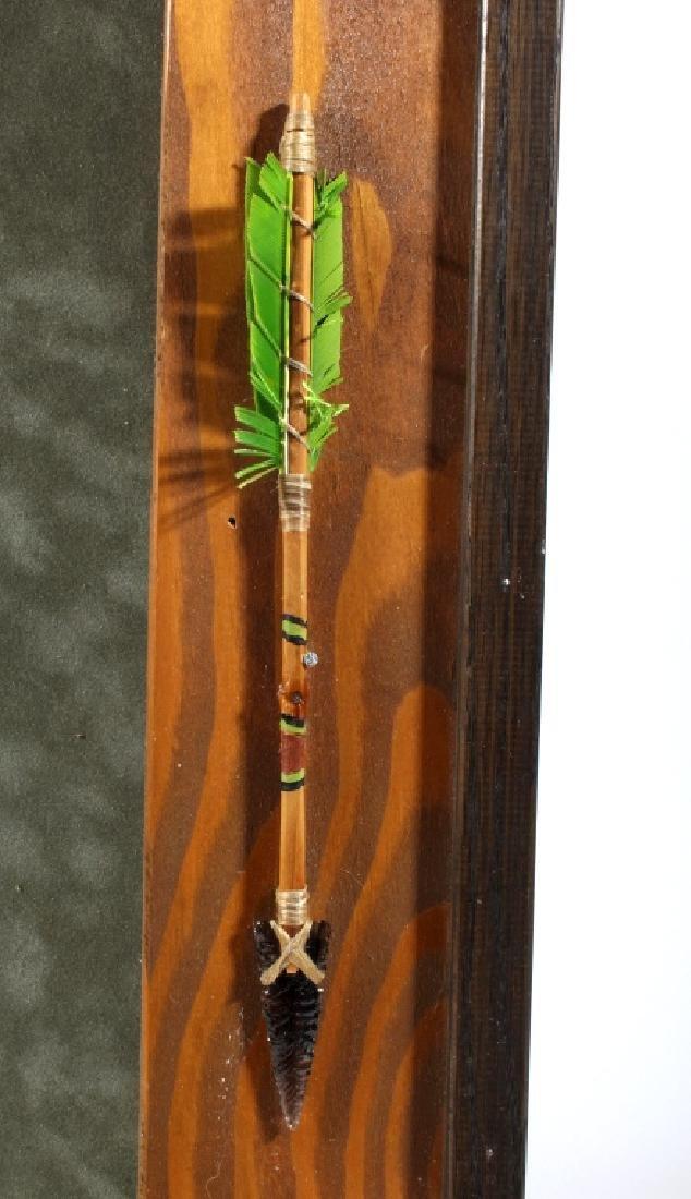 Native American Framed Arrowhead Shadowbox Display - 3