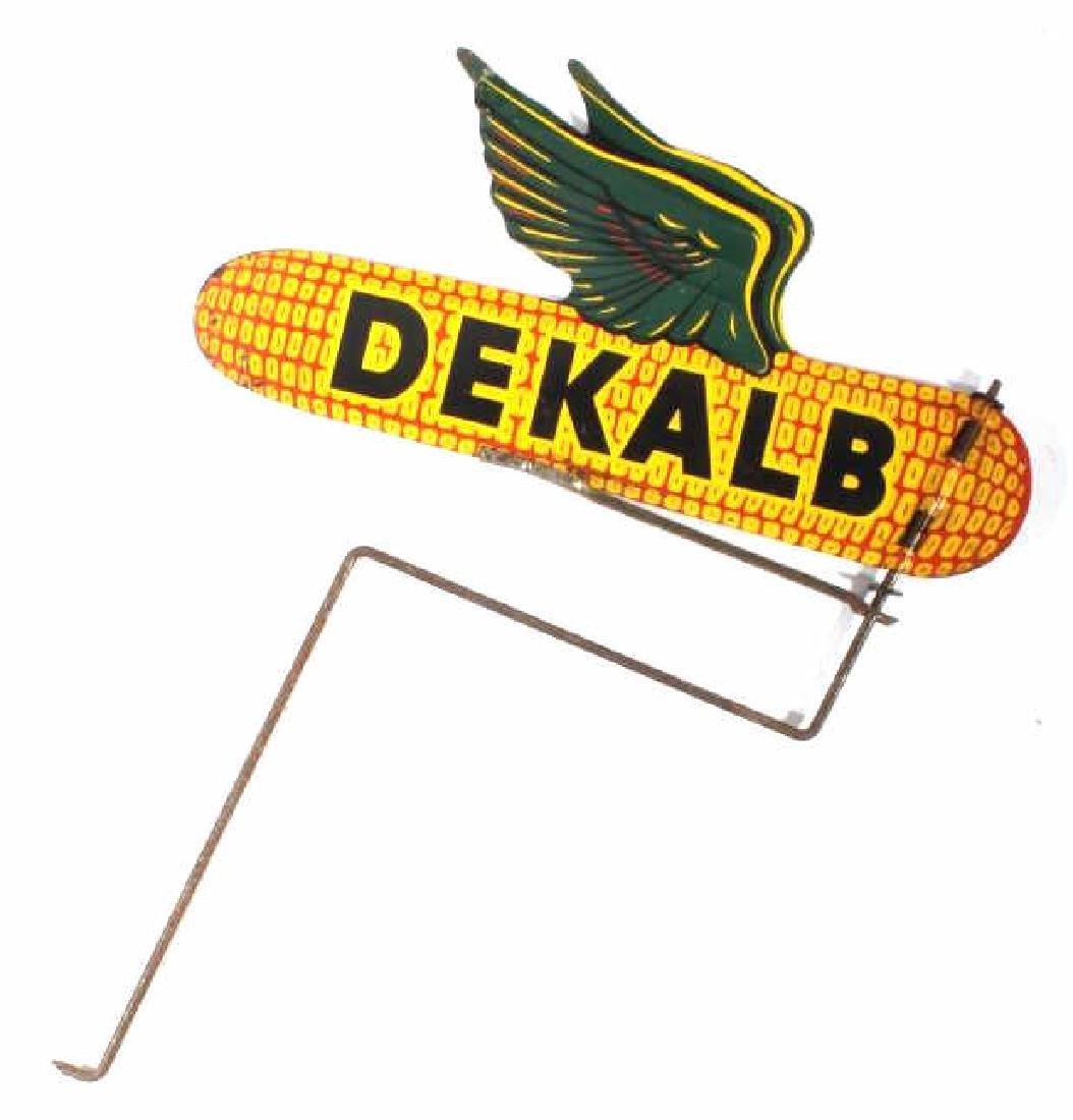 Vintage Dekalb Seed Spinning Advertising Sign