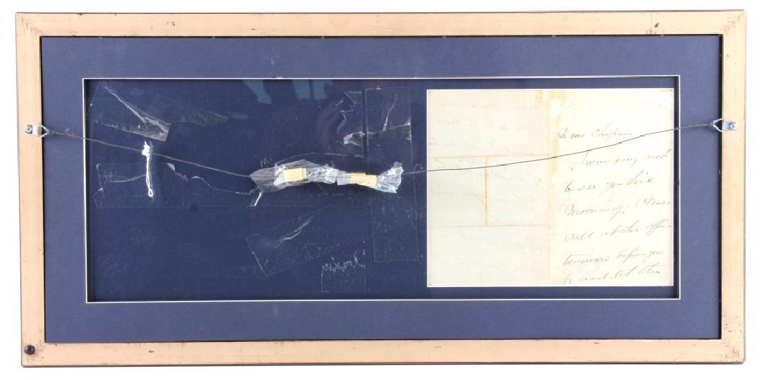 US Civil War General's Signatures Framed RARE - 2