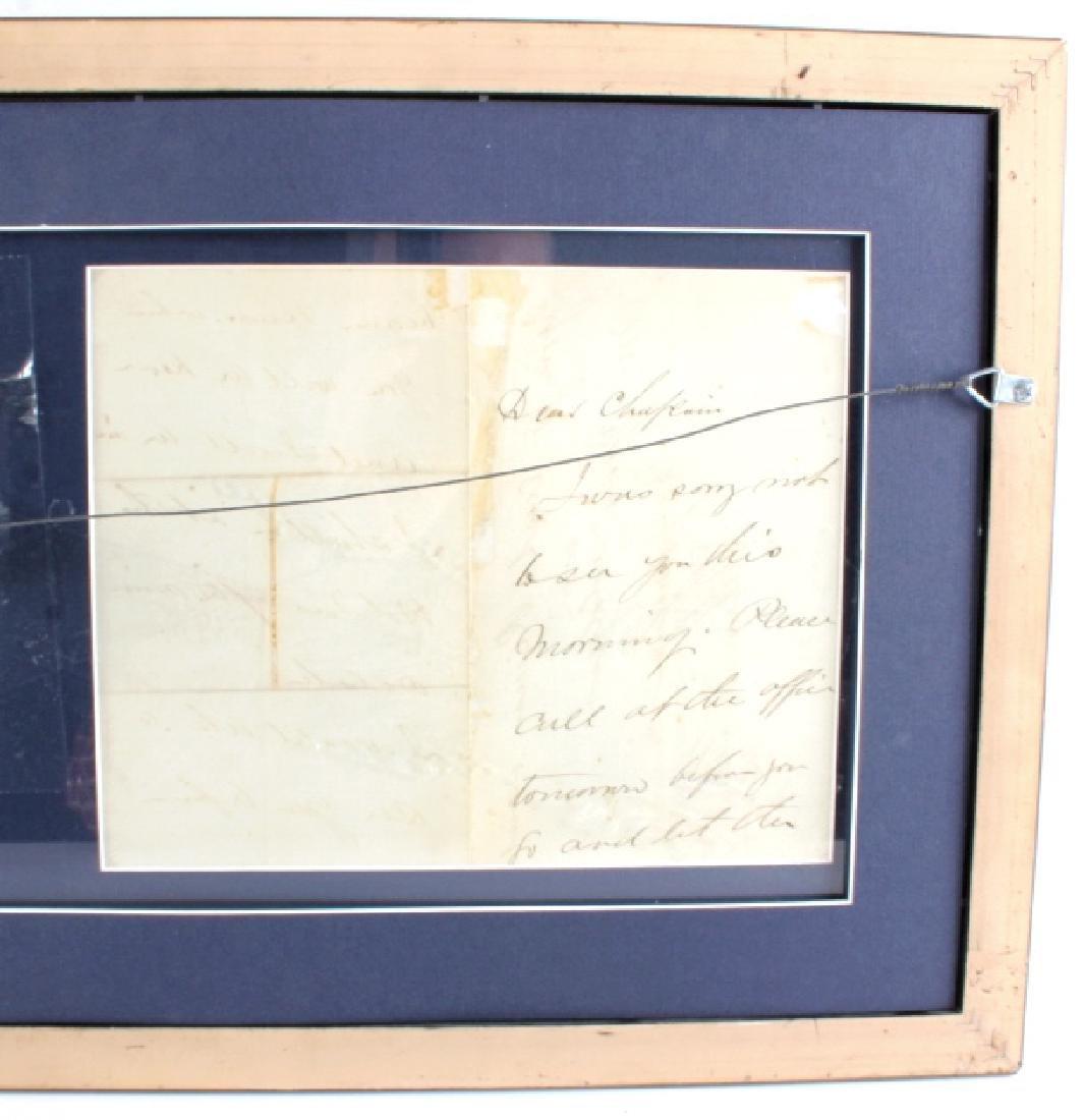 US Civil War General's Signatures Framed RARE - 3