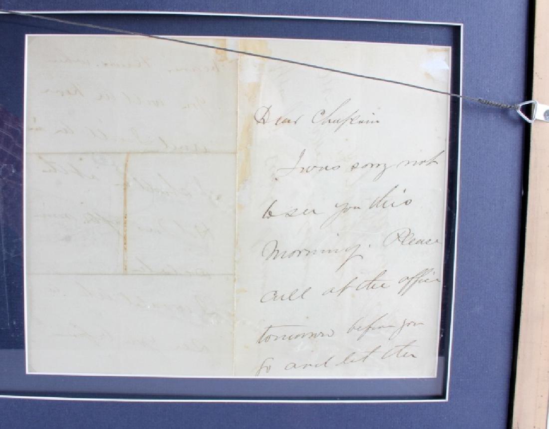 US Civil War General's Signatures Framed RARE - 4