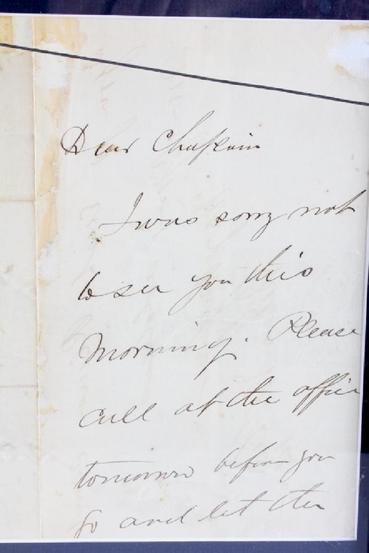 US Civil War General's Signatures Framed RARE - 5