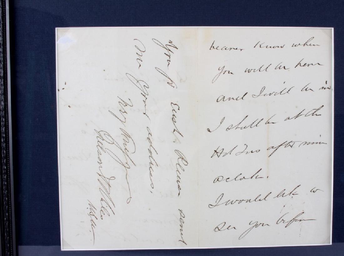 US Civil War General's Signatures Framed RARE - 6