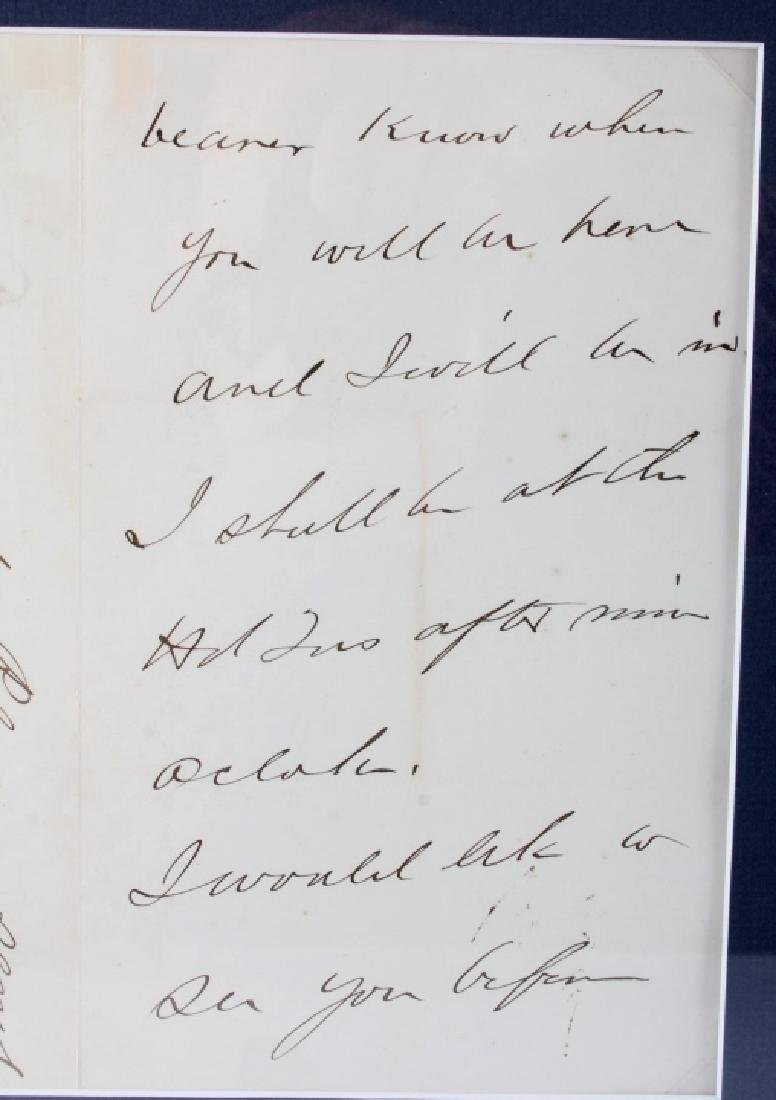 US Civil War General's Signatures Framed RARE - 7