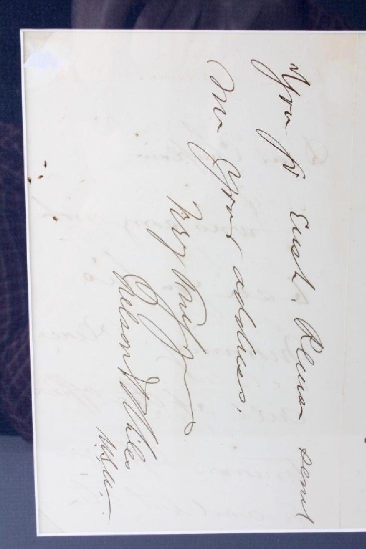 US Civil War General's Signatures Framed RARE - 8