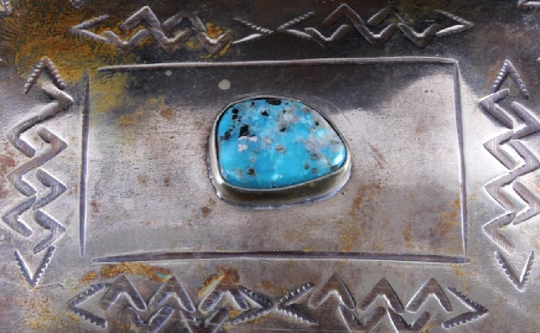 Navajo Sterling Silver Turquoise Jewelry Box - 5