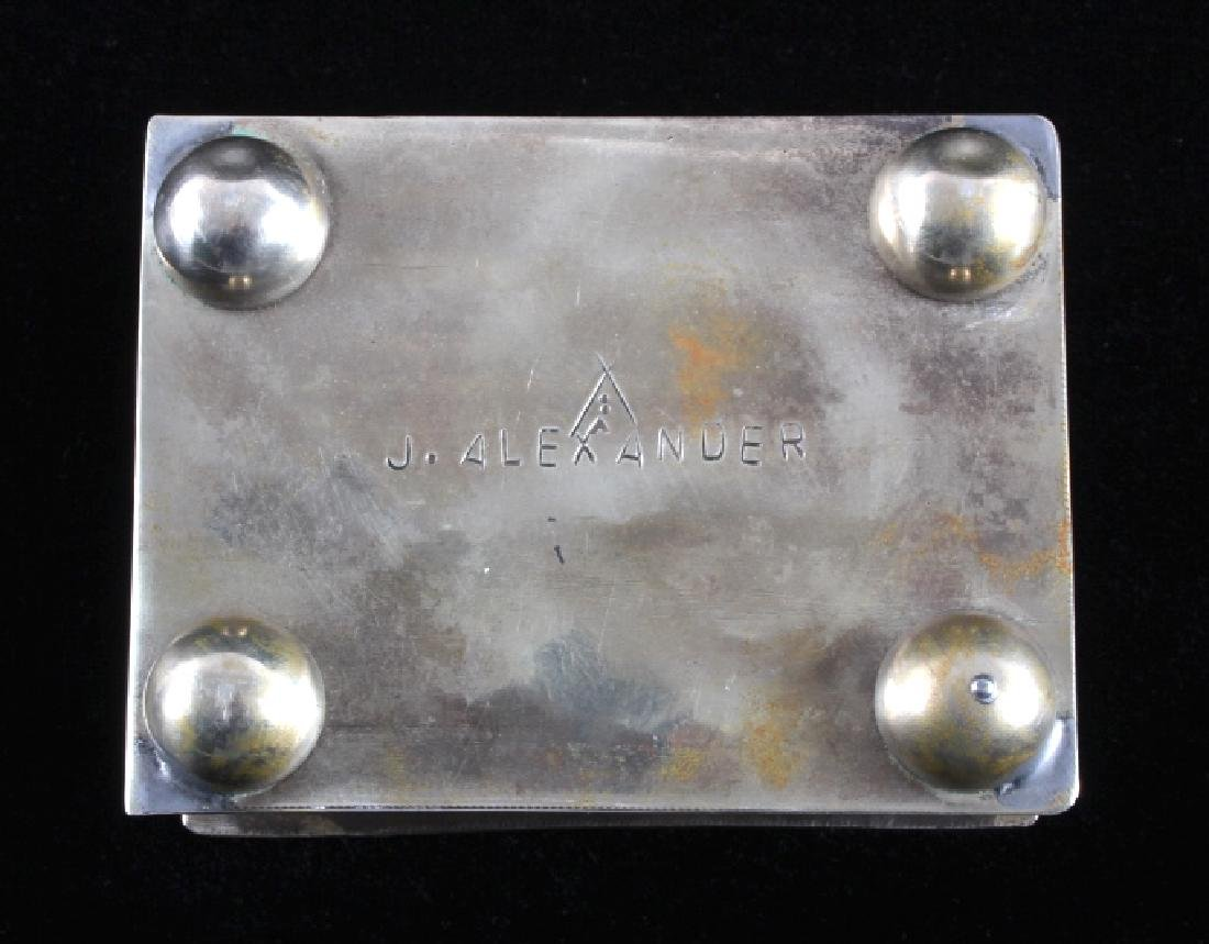 Navajo Sterling Silver Turquoise Jewelry Box - 8