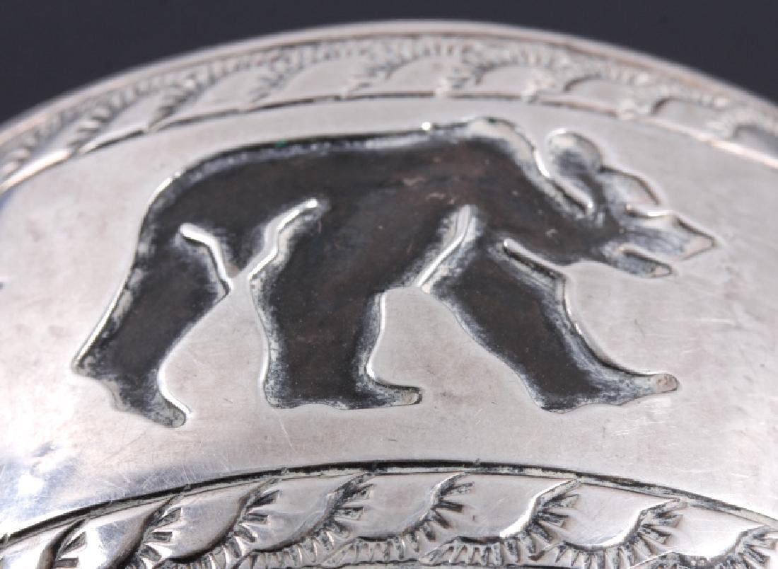 Signed Navajo Sterling Silver Belt Buckle & Cuff - 12