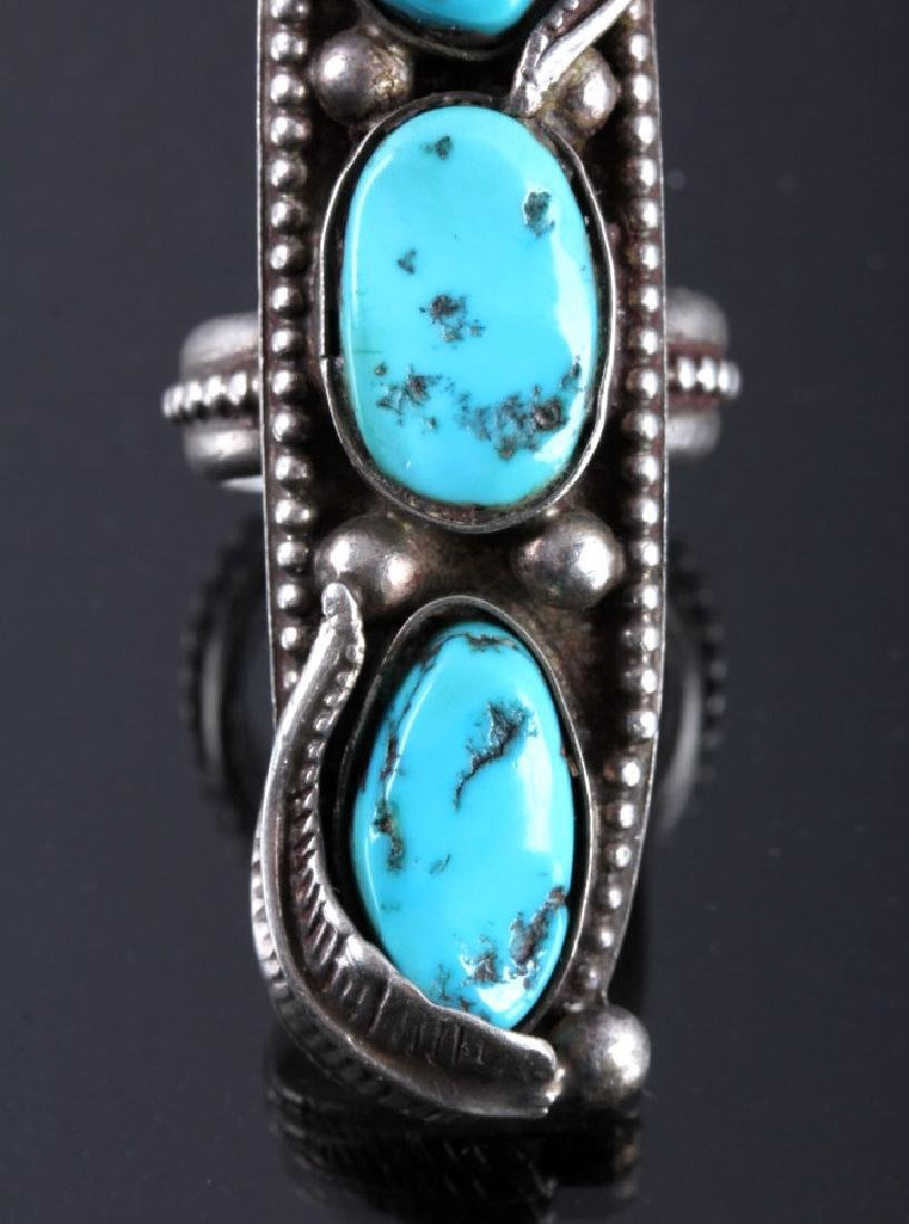 Navajo Sterling Silver and Turquoise Ring - 3