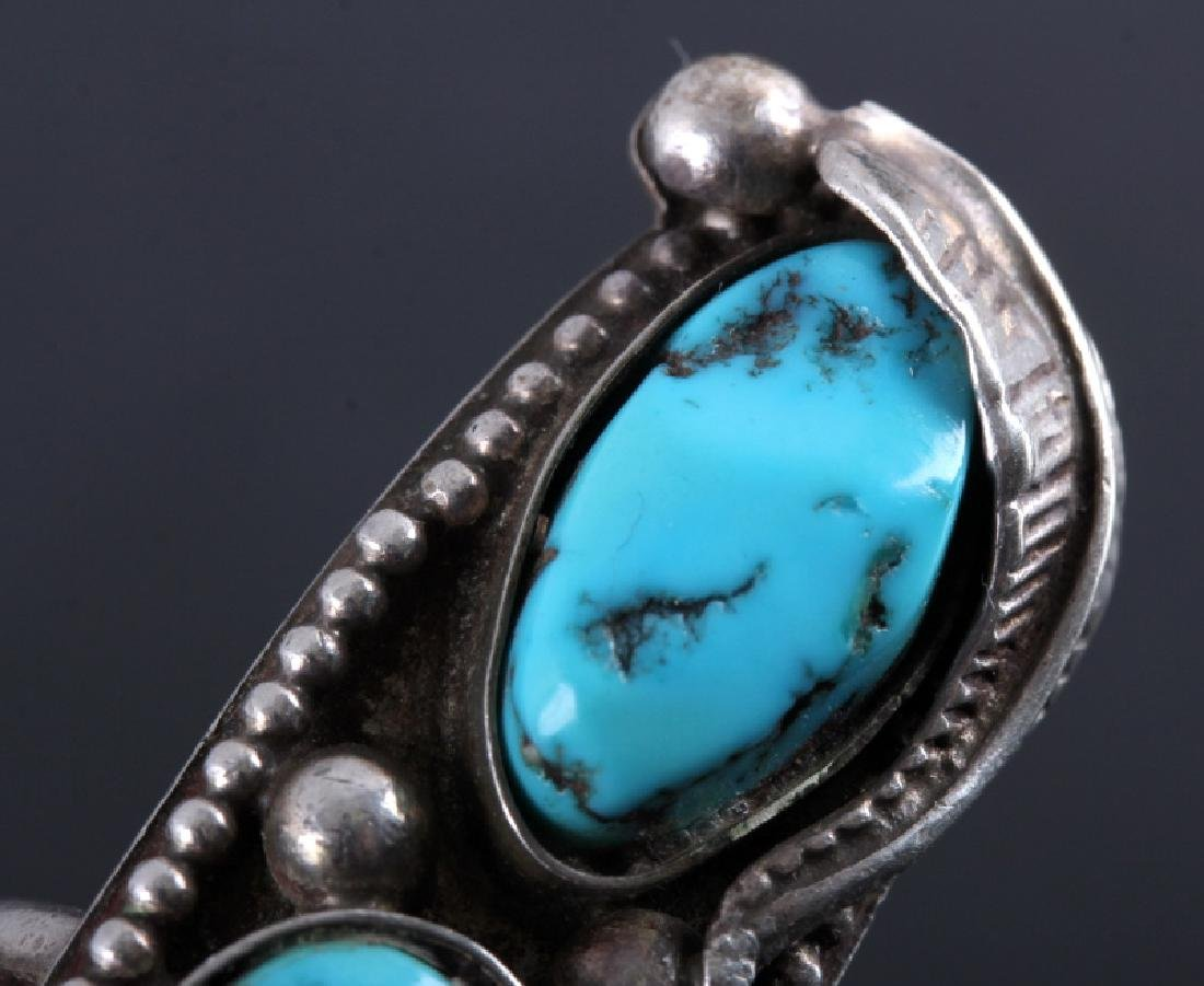 Navajo Sterling Silver and Turquoise Ring - 5