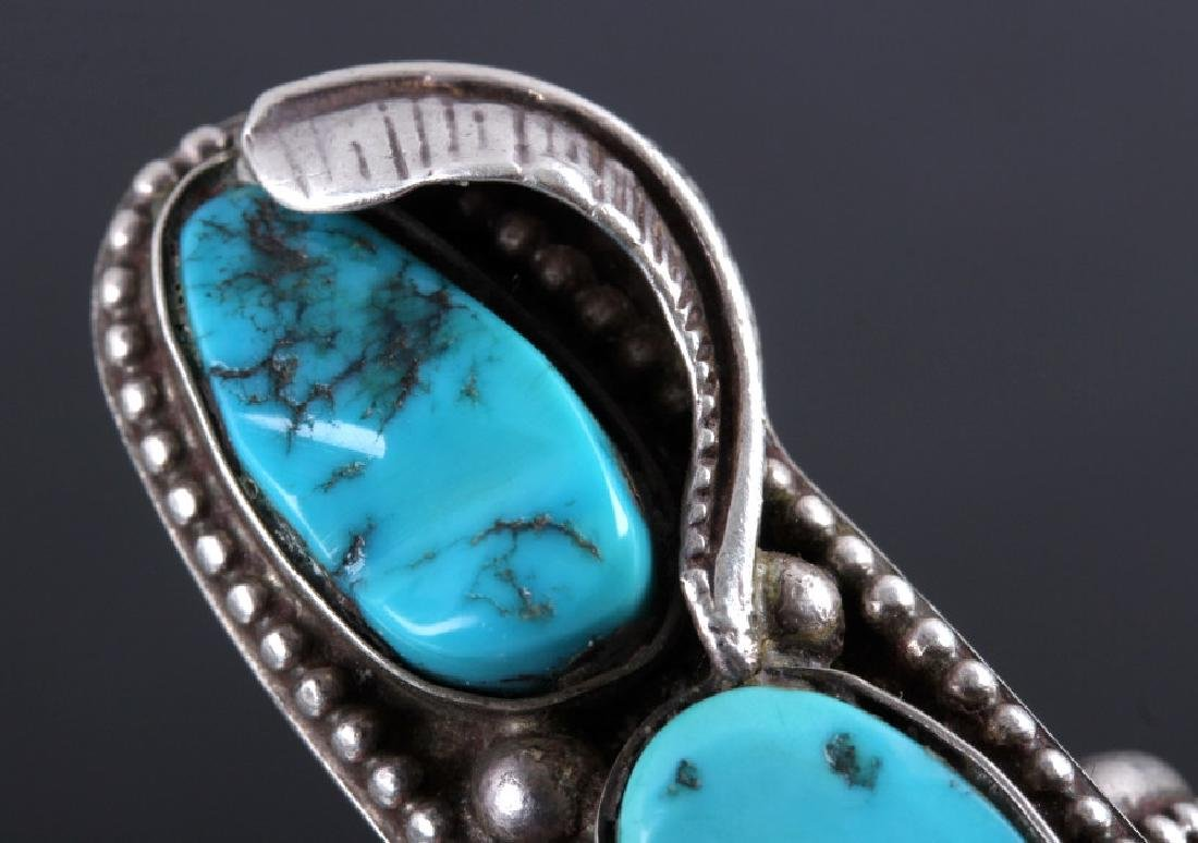 Navajo Sterling Silver and Turquoise Ring - 6